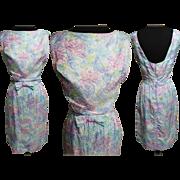 Vintage 1950s Dress//50s Dress/ Designer//Saks Fifth Avenue//Summer Dress//Rockabilly//Wiggle Dress//New Look//Mod