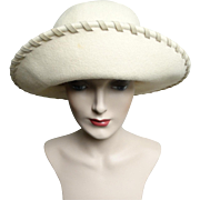 Vintage 1960s Hat//Creme//Saks Fifth Avenue//Garden Party// Mad Men// Rockabilly// Femme Fatale//60s Hat// Couture