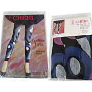 Vintage Tights//Stretch Nylon//Tights//Cheri//Original Wrapping// Designer//1 Pair//Pinup//Footless Tights//NOS