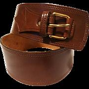 Vintage Leather Belt | Brown | Wide leather Belt | Brown Leather Belt | Leather Belt