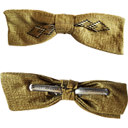 Vintage Men's Bow Tie//Retro//Royal//Rust Resistant//Gold//Bow Tie//Great Graphics//