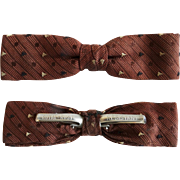 Vintage Men's Bow Tie//Retro//Royal//Rust Resistant//Brown//Creme//Bow Tie//Great Graphics//