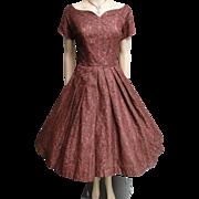 1950s Dress | Brown Lace Dress | 50s Dress | 1950s Party Dress | Rockabilly Dress | Cocktail Dress |