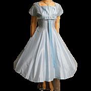 Vintage 1950s Dress   50 Blue Dress   Rockabilly Dress   50s Dress   Full Dress  