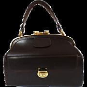 Rare Vintage 1940s Purse | Eisenberg Original | Designer Purse | 1940s Handbag | Brown Purse | Leather Purse | Brown Handbag | Day Bag |