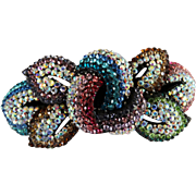 Rhinestone Barrette | Multi Colored Rhinestone Barrette | Paved Rhinestone Barrette | Hair Barrette | Sparkling Barrette |