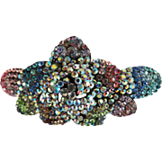 Rhinestone Barrette | Multi Colored Rhinestone Barrette | Paved Rhinestone Barrette | Hair Barrette | Sparkling Barrette | Bow Barrette |