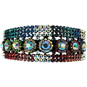 Rhinestone Barrette | Multi Colored Rhinestone Barrette | Paved Rhinestone Barrette | Hair Barrette | Sparkling Barrette | Big Bold Barrette