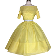 Vintage 1950s Dress | Yellow Dress | Miss Elliette Dress | 50s Dress | Rockabilly Dress | 1950s Party Dress | Designer Dress |