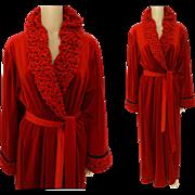 Vintage Red Robe | Designer Robe | Dressing Gown | R. Michael Alan Robe | Long Red Robe | Red Dressing Gown | Vintage Dressing Gown |