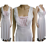 Vintage 1950s Gown | 1950s Pink Gown | 50s Gown | Charmode Gown | Pleated Bodice Gown | 1950s Flowing Gown