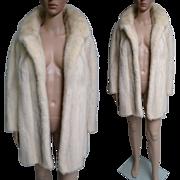 Vintage Mink Coat   White Mink Coat   Curtis Stewart Coat   1960s Mink Coat   Fur Coat   60s Mink Coat   Stroller Length Mink Coat  