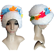 Vintage Swimming Cap | Swim Cap | Bathing Cap | Vintage Swim Cap | Floral Swim Cap | White Swim Cap | Flower Swim Cap