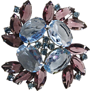 Julianna brooch//Blue Rhinestones//Purple Rhinestones//Gorgeous//
