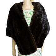 Vintage Mink Stole//BROWN MINK//60s Mink Stole//Mink//Mod//High Fashion//Phomberg's// Furs//New Look