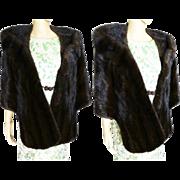 Vintage Mink Stole   BROWN MINK   Oscar E. Loeb Stole   1960s Mink Stole   60s Mink Stole   High Fashion   New Look   Mod  