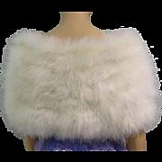 Vintage Ostrich Feather Stole | 1940s Feather Stole | Creme Ostrich Feather Stole | 40s Feather Stole | Feather Stole