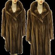 Vintage Mink Coat Real Fur Full Length Soft Sable Mink Old Hollywood Glamour Art Deco Art Nouveau Avant Garde