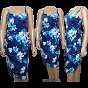 Vintage 1960s Dress   Hawaii Dress   Floral Dress   Sarong Dress   Hourglass Dress   Wiggle Dress   Hawaii Sundress   60s Dress   Designer