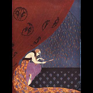 Original 1926 Art Deco lithograph by Erté