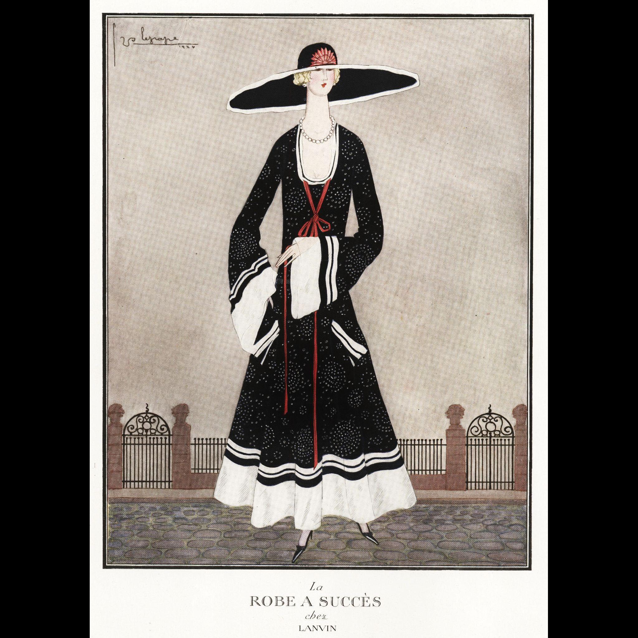1924 original french art deco lanvin fashion print from for Art deco trend