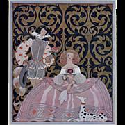 Original Art Deco costume designs by Barbier