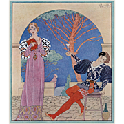 Original Art Deco costume design by Barbier