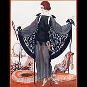 Original 1920's Art Deco fashion dress