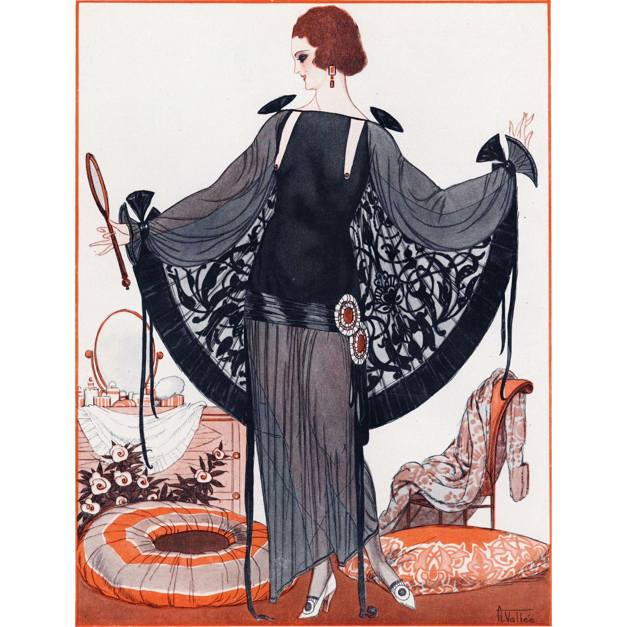 Original 1920 S Art Deco Fashion Dress Yoshagraphics
