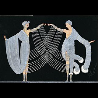 """Vintage Art Deco print """"Marriage Dance"""" by Erté"""