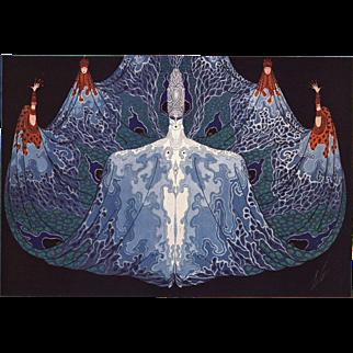 """Vintage Art Deco print L""""ocean""""by Erté"""