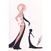 Art Deco nude by Erté