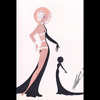 Art Deco nude by Erté