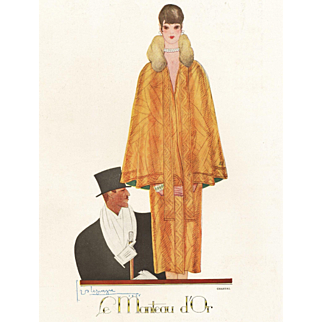 Original Vintage Art Deco fashion print by LePape