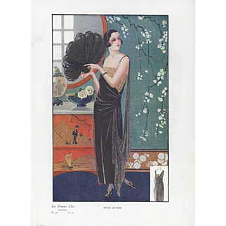 Art Deco Fashion design Print