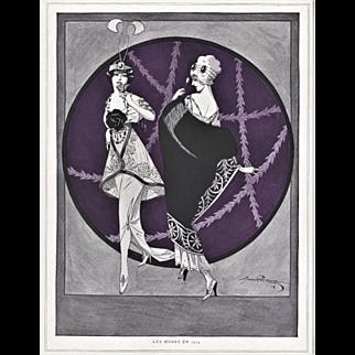 FUN Vintage Art Deco Fashion Print