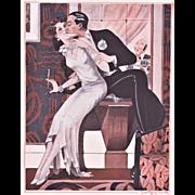 Art Deco Print of Lovers