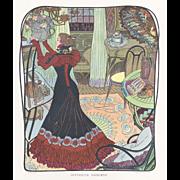 Rare 1900  Art Nouveau woman by DeFeure