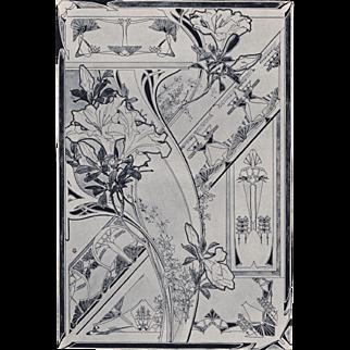 Pair of Art Nouveau Floral Designs