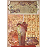 1900 Art Nouveau Design Chromolithograth