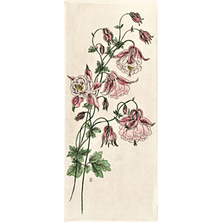 Original French Botanical Bouquet Lithograph
