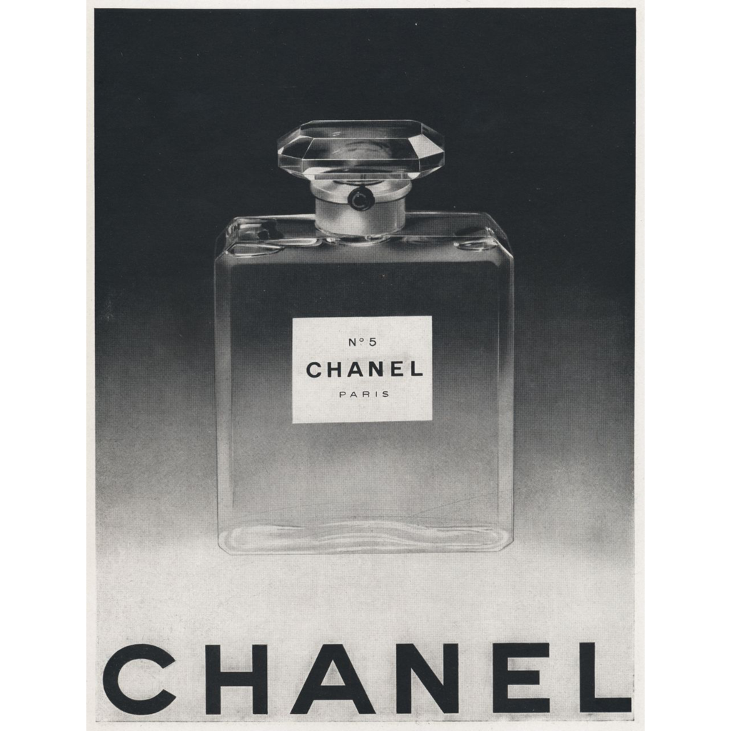 original french vintage chanel no 5 perfume print from yoshagraphics on ruby lane. Black Bedroom Furniture Sets. Home Design Ideas