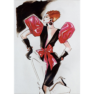 Fabulous Yves Saint Laurent fashion print by Antonio