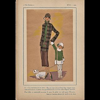 Mother & Daughter Art Deco Fashion Print