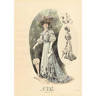 PAIR of 1907 French Fashion Prints