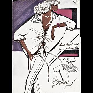 Original Watercolor Sportswear Fashion Design