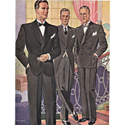 Art Deco Men's Fashion-Tuxedo Print
