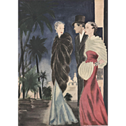 French Art Deco evening fashion print
