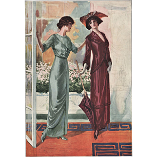 Belle Époque French Fashion Print