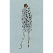Valentino Fashion Dress Design Print from limited edition series